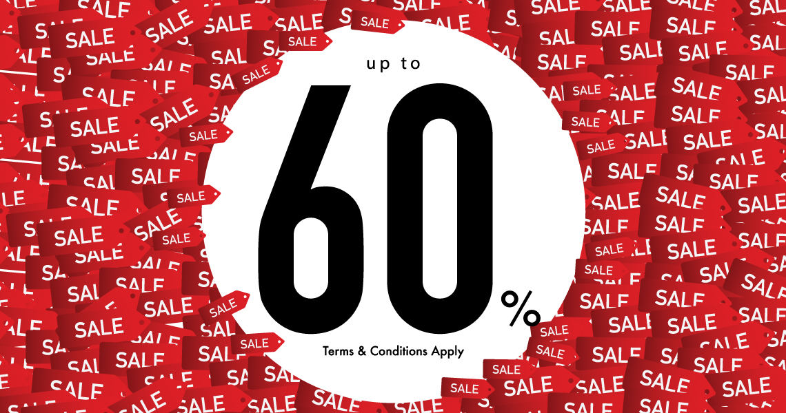 Up to 60% sale